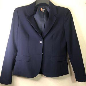 Nine West 2 piece women skirt suit, blue size 6
